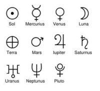 simboli planetari