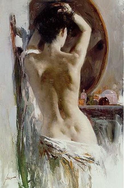 Pino Daeni, Donna allo specchio