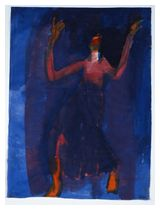 Emil Nolde, Danzatrice con velo viola