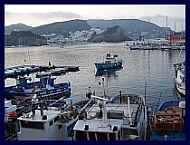 Vista di Ponza dal porto