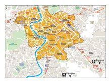 Mappa delle Mura Aureliane