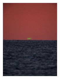 Il raggio verde sulle coste italiane