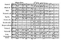 Spartito quarta sinfonia di Schubert