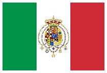 Tricolore con stemma del Regno della casa di Borbone