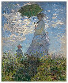 Signora con parasole, Signora Monet e sua figlia