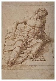 Andrea Mantegna - Studio per La resurrezione di Gesù - British Museum Londra