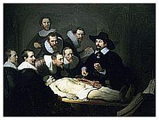 lezioni di anatomia di Rembrandt