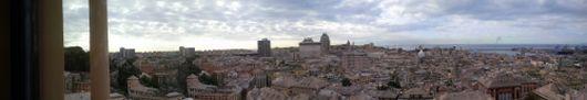 Vista della città dal Belvedere del Castelletto