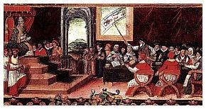 Papa Gregorio XII presiede la seduta della commissione per la riforma